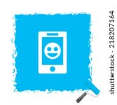 beautiful phone smile web icon | Shutterstock .eps vector #218207164