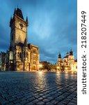 Prague  Old Town Hall On Marke...