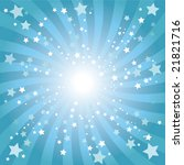 abstract blue star background | Shutterstock .eps vector #21821716