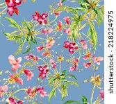 floral seamless pattern with... | Shutterstock .eps vector #218224975