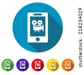 beautiful phone camera web icon | Shutterstock .eps vector #218234029