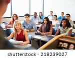 university students using... | Shutterstock . vector #218239027