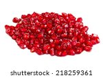 pomegranate or punica granatum... | Shutterstock . vector #218259361