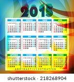 new year 2015 calendar design... | Shutterstock . vector #218268904