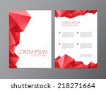 abstract vector modern flyer  ... | Shutterstock .eps vector #218271664