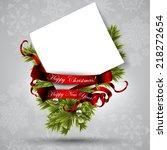 christmas background | Shutterstock .eps vector #218272654