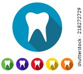 beautiful medical tooth web icon | Shutterstock .eps vector #218272729