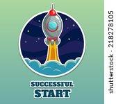 rocket launch vector... | Shutterstock .eps vector #218278105