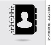 address book icon. flat design...