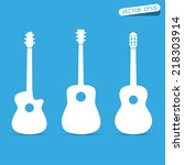 Acoustic Guitar Vector Sign...