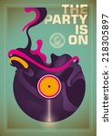 abstract party poster with...   Shutterstock .eps vector #218305897
