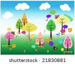 nature background illustration | Shutterstock . vector #21830881