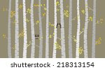 Vector Birch Or Aspen Trees...