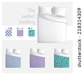 the perfect bedding | Shutterstock .eps vector #218314309