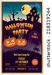 halloween party poster | Shutterstock .eps vector #218319244