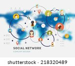 social network vector concept.... | Shutterstock .eps vector #218320489