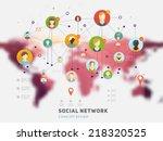 social network vector concept.... | Shutterstock .eps vector #218320525