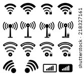 wireless icons | Shutterstock .eps vector #218327161