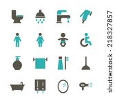 bathroom icon | Shutterstock .eps vector #218327857