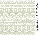 tribal art ethnic seamless... | Shutterstock .eps vector #218329684