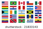 set of america north and south... | Shutterstock .eps vector #21833143