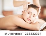 beauty and spa concept  ... | Shutterstock . vector #218333314