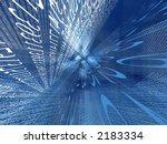 Transparent Digital Blue Space...