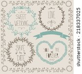 wedding graphic set  wreath ... | Shutterstock .eps vector #218337025