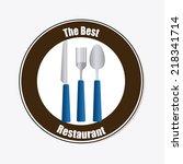 kitchen design over white...   Shutterstock .eps vector #218341714