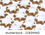 star shaped cinnamon biscuit | Shutterstock . vector #21834460