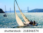 sailboats in the san francisco... | Shutterstock . vector #218346574