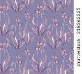 plant ago lancet seamless... | Shutterstock . vector #218362225