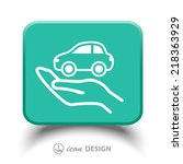 pictograph of car | Shutterstock .eps vector #218363929