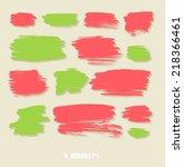 vector bright spots of paint... | Shutterstock .eps vector #218366461