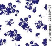 flower pattern | Shutterstock .eps vector #218369479
