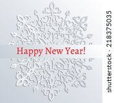 new year greeting card with... | Shutterstock .eps vector #218375035