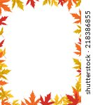 Autumn Border Design Vector...