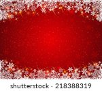 red background with  frame of... | Shutterstock .eps vector #218388319