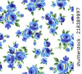 pattern of rose  | Shutterstock .eps vector #218389897