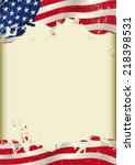 vertical usa flag background. ... | Shutterstock .eps vector #218398531