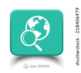 pictograph of search | Shutterstock .eps vector #218406979