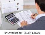 business man accountant... | Shutterstock . vector #218412601