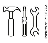 tools icon | Shutterstock .eps vector #218417965