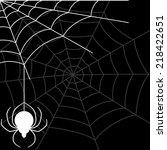 vector banner. spider. | Shutterstock .eps vector #218422651