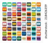 flat design  ticket | Shutterstock .eps vector #218426359