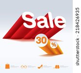 sale with percent discount | Shutterstock .eps vector #218426935
