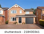 english detached house with... | Shutterstock . vector #218430361