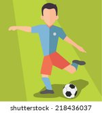 soccer player  flat design... | Shutterstock .eps vector #218436037