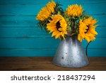 Fresh Sunflower Flowers In...