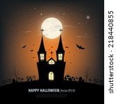 halloween background. | Shutterstock .eps vector #218440855
